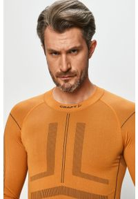 Pomarańczowa koszulka z długim rękawem Craft