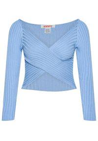 Kontatto Sweter 3M7257 Niebieski Slim Fit. Kolor: niebieski