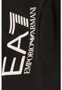 Czarne legginsy EA7 Emporio Armani z nadrukiem