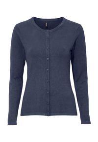Niebieski sweter Soyaconcept z klasycznym kołnierzykiem, klasyczny