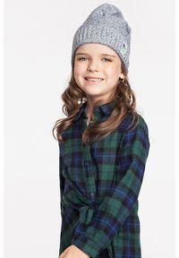 Wiosenna czapka dziewczęca PaMaMi - Fioletowy. Kolor: fioletowy. Materiał: bawełna, elastan. Sezon: wiosna