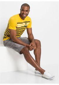 Bermudy dżinsowe ze stretchem Regular Fit bonprix jasnoszary denim. Kolor: szary #7