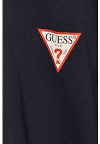 Niebieska bluza nierozpinana Guess na co dzień, casualowa