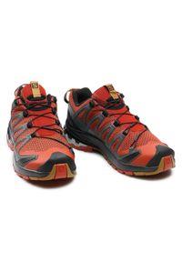 Pomarańczowe buty do biegania salomon