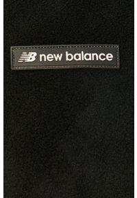 Czarna bluza rozpinana New Balance z kapturem, na co dzień, casualowa