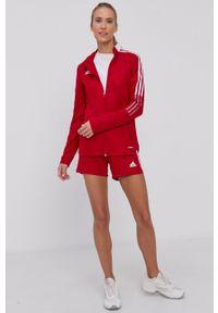adidas Performance - Bluza. Okazja: na co dzień. Kolor: czerwony. Styl: casual