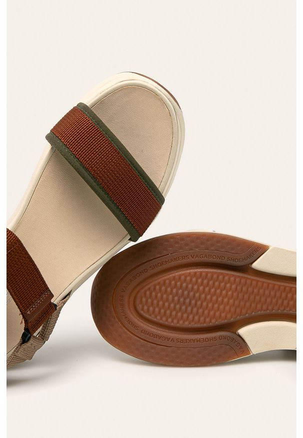 Brązowe sandały vagabond na rzepy