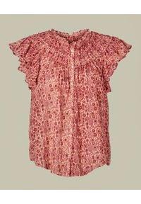 M.A.B.E - Bluzka w kwiatowy wzór Ellie. Kolor: różowy, fioletowy, wielokolorowy. Materiał: tkanina, bawełna. Wzór: kwiaty