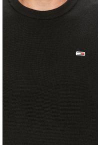 Czarny sweter Tommy Jeans casualowy, z aplikacjami, na co dzień