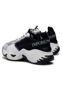 Czarne buty sportowe Emporio Armani na co dzień, z cholewką