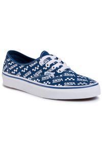 Niebieskie buty sportowe Vans Vans Authentic, z cholewką