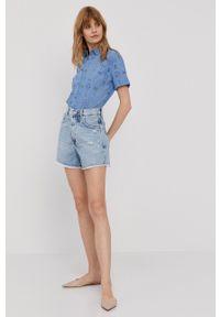 Pepe Jeans - Szorty jeansowe Rachel. Okazja: na co dzień. Stan: podwyższony. Kolor: niebieski. Styl: casual