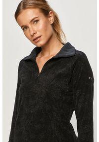 Czarna bluza columbia bez kaptura, casualowa, na co dzień, krótka