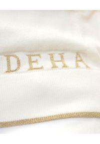 Deha - DEHA - Biała bluza z kapturem. Okazja: na co dzień. Typ kołnierza: kaptur. Kolor: biały. Materiał: bawełna, dzianina. Wzór: aplikacja. Styl: casual, klasyczny, sportowy
