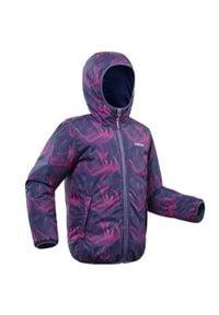 WEDZE - Kurtka narciarska WARM REVERSE 100 dla dzieci. Kolor: wielokolorowy, niebieski, różowy. Materiał: materiał. Wzór: nadruk. Sport: narciarstwo