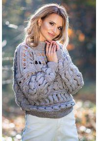 Beżowy sweter Fobya krótki