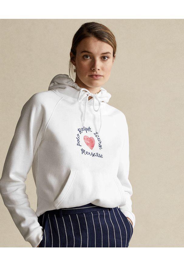 Ralph Lauren - RALPH LAUREN - Biała bluza z kapturem. Okazja: na co dzień. Typ kołnierza: kaptur. Kolor: biały. Materiał: jeans, bawełna. Wzór: napisy, nadruk. Sezon: wiosna. Styl: casual, klasyczny