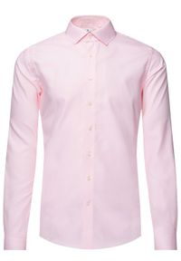 Różowa koszula casual Emanuel Berg