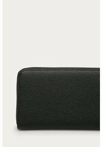 Czarny portfel Trussardi Jeans gładki