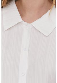 Answear Lab - Koszula. Kolor: biały. Materiał: tkanina. Długość rękawa: długi rękaw. Długość: długie. Wzór: gładki. Styl: wakacyjny