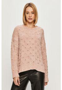 Różowy sweter Pepe Jeans z długim rękawem, długi