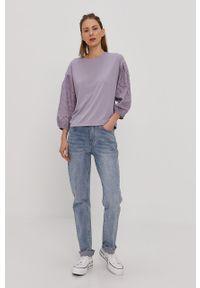Fioletowa bluzka Jacqueline de Yong casualowa, gładkie