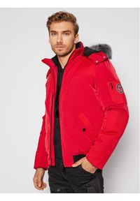 Czerwona kurtka zimowa Guess