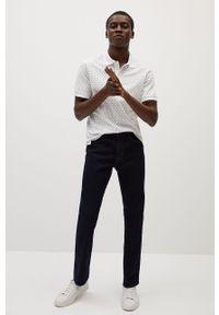 Biała koszulka polo Mango Man polo, na co dzień, krótka