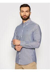Tommy Hilfiger Tailored Koszula Oxford MW0MW16485 Granatowy Slim Fit. Kolor: niebieski