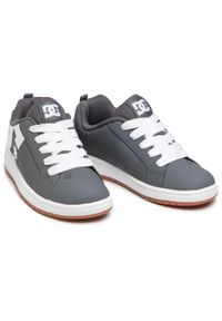 Sneakersy DC - Court Graffik ADBS100207 Grey/Gun (2Gg). Kolor: szary. Materiał: skóra ekologiczna, materiał. Szerokość cholewki: normalna