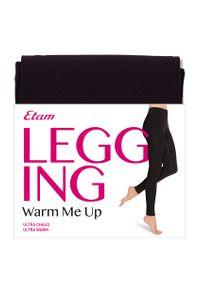 Warm Me Up Legginsy - S - Czarny - Etam. Kolor: czarny. Materiał: dzianina, skóra