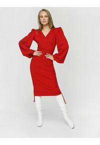 Madnezz - Sukienka Patrycja - wino. Materiał: wiskoza, elastan