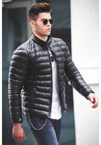 Czarny płaszcz IVET klasyczny, na jesień