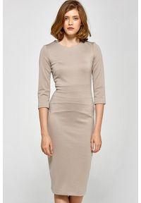 Sukienka midi, ołówkowa, elegancka