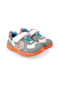 Szare buty sportowe Biomecanics z cholewką, z okrągłym noskiem, na rzepy