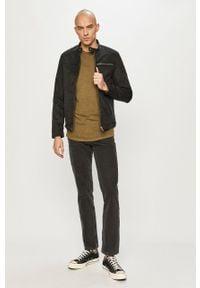 Jack & Jones - T-shirt. Okazja: na co dzień. Kolor: oliwkowy. Materiał: dzianina, bawełna. Wzór: gładki. Styl: casual #5