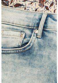 Niebieskie szorty Pepe Jeans z podwyższonym stanem, na co dzień