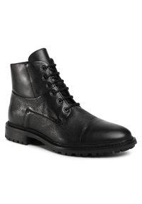 Czarne buty zimowe Geox z cholewką, casualowe, na co dzień