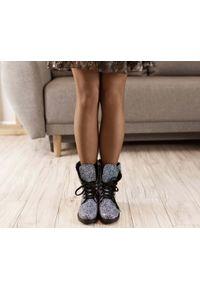 Botki Zapato wąskie, na zimę, w kolorowe wzory
