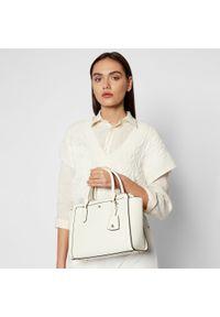 Biała torebka klasyczna Lauren Ralph Lauren skórzana