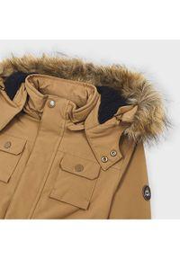 Mayoral Kurtka zimowa 4472 Brązowy Regular Fit. Kolor: brązowy. Sezon: zima