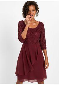 Czerwona sukienka bonprix elegancka, z aplikacjami