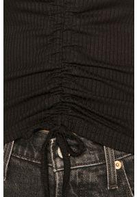 Czarna bluzka z długim rękawem Haily's na co dzień, gładkie, casualowa
