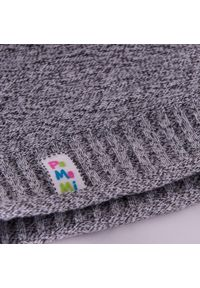 Wiosenna czapka dziewczęca PaMaMi - Ciemnoszary. Kolor: szary. Materiał: bawełna, elastan. Sezon: wiosna