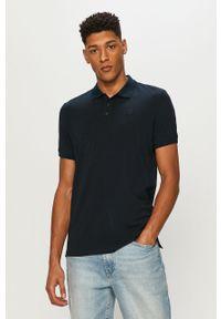Niebieska koszulka polo Premium by Jack&Jones gładkie, na co dzień