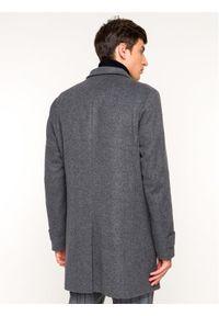 Strellson Płaszcz wełniany New Brodway 30018512 Szary Regular Fit. Kolor: szary. Materiał: wełna