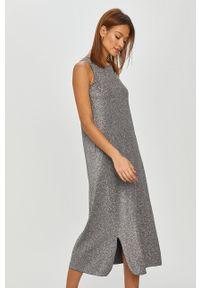 Max Mara Leisure - Sukienka ELISIR. Okazja: na co dzień. Kolor: szary. Materiał: dzianina. Wzór: gładki. Typ sukienki: proste. Styl: casual