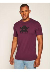 Fioletowy t-shirt Armani Exchange