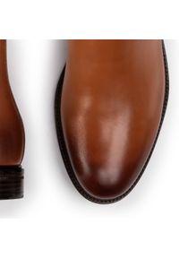 Brązowe buty wizytowe Gino Rossi z cholewką, klasyczne