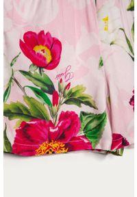 Różowy kombinezon Guess na ramiączkach, w kwiaty